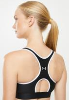 Under Armour - Armour mid keyhole graphic bra - black & white