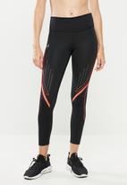 Under Armour - Qualifier speed pocket graphic crop leggings  - black