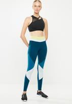 Nike - Nike colour block 7/8 one tight - lime & blue