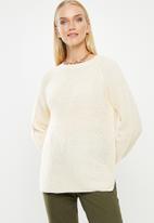 Vero Moda - Leanna o-neck blouse - cream