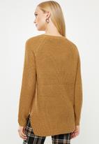 Vero Moda - Leanna o-neck blouse - tan