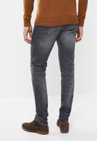 POLO - Andre tapered leg denim - charcoal