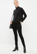 Vero Moda - East long sleeve high neck top - black