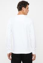 S.P.C.C. - Veattie signature crew neck sweat - white