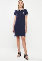 POLO - Leaha short sleeve golfer dress - navy
