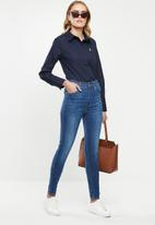 POLO - Arabelle concealed front shirt - navy