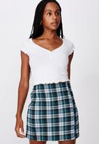 Factorie - Double split mini skirt - multi