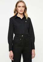 POLO - Arabelle concealed front shirt - black