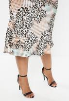Glamorous - Plus leopard midi skirt - multi