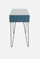 Sixth Floor - Penn 1 drawer desk - blue&natural