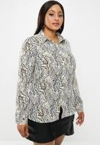 Glamorous - Plus abstract blouse - multi