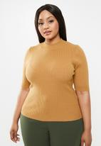 Glamorous - Plus high neck knit - camel