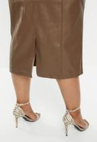 Glamorous - Plus brown 3/4 skirt - brown