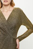 MILLA - Wrap maxi dress - gold