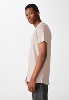 Cotton On - Essential longline curved hem - brown