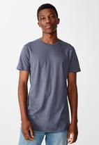 Cotton On - Essential longline curved hem - blue