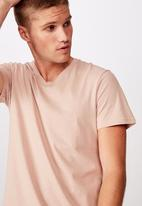 Cotton On - Essential vee neck  - dirty pink