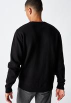 Cotton On - Crew knit - black