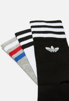 adidas Performance - Solid crew 3 pack socks - multi