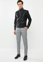 Only & Sons - Mike PU racer jacket - black
