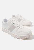 Cotton On - Alba retro low rise - white & grey