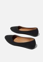 Cotton On - Essential Candice ballet - black nubuck
