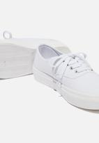 Cotton On - Jamie lace up plimsoll - white canvas