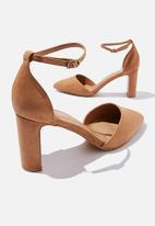 Cotton On - Jeanne closed toe heel - tan