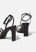 Cotton On - Lorinda strappy heel - black