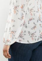 edit Plus - Lantern sleeve blouse - multi