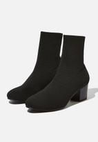 Cotton On - Thrills sock boot  - black