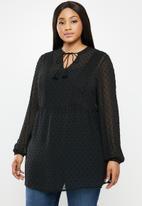 JUNAROSE - Alia tunic - black