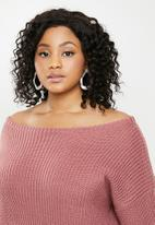 Missguided - Curve off the shoulder jumper dress - mauve