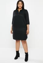 JUNAROSE - Manne 3/4 sleeve dress - black