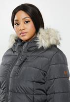 Carmakoma - Plus carnorth nylon coat - grey