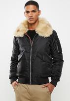 Brave Soul - Eastcott bomber jacket - black