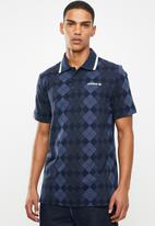 adidas Originals - Argyle pique short sleeve polo - night indigo
