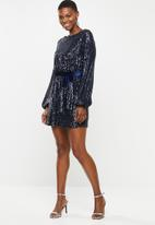 VELVET - Sequin mini dress - navy
