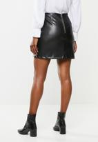 VELVET - Mini a line skirt - black