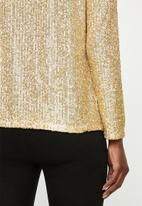 VELVET - Sequins jacket - gold