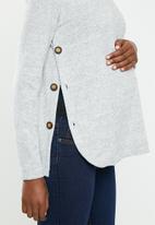 Superbalist - Side button jersey - grey