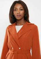 edit - Lightweight Belted Jacket  - rust