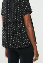 Superbalist - Babydoll shirt - black & white