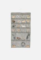 Sixth Floor - 2-sided jewellery organiser - grey
