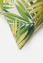 Grey Gardens - Lime leaves cushion cover - green