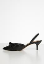 ALDO - Galaecia leather heel - black