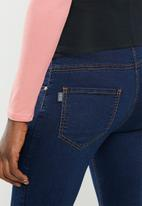 Cherry Melon - Maternity Powerfit skinny jeans - mid blue