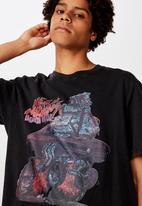 Factorie - Mean machine regular graphic T-shirt - washed black