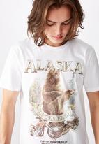 Factorie - Anchorage slim graphic T-shirt - white
