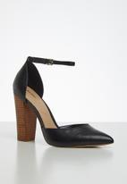 ALDO - Nicholesd leather heel - black